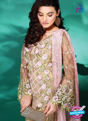 buy Beige Faux Georgette Pakistani Suit
