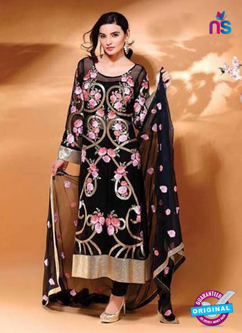 SC 14101 Black Faux Georgette Pakistani Suit