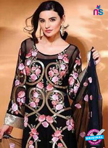 SC 14101 Black Faux Georgette Pakistani Suit Online