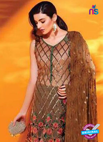SC 14100 Brown Faux Georgette Pakistani Suit Online