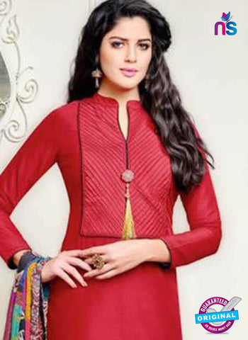Angroop 239 Red Formal Cotton Suit