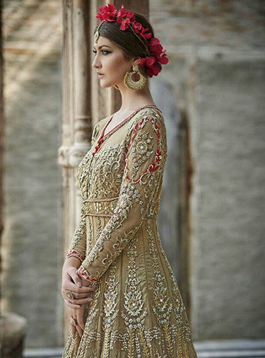 Mohini 24001  Beige color Net Designer Suit