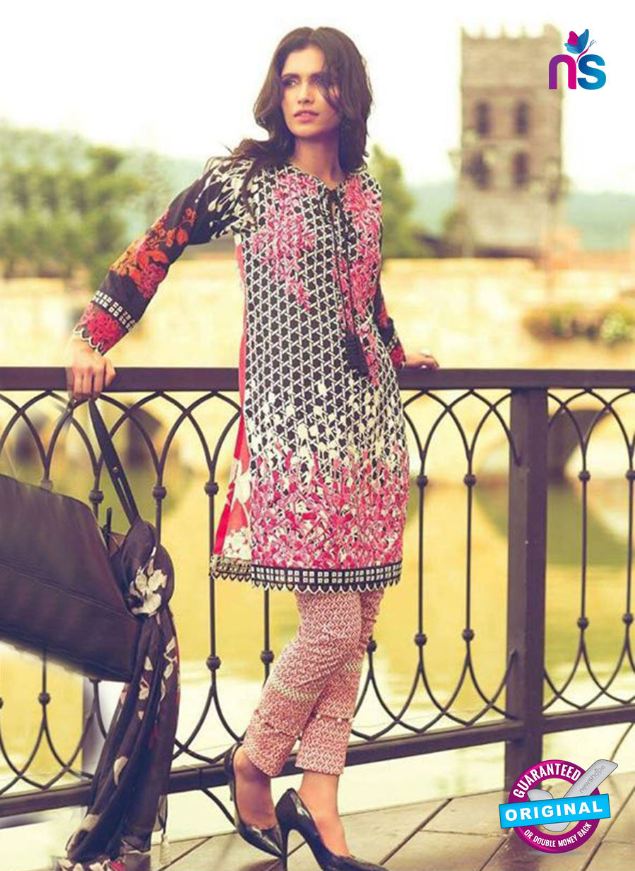 SC 14069 Black and Multicolor Cotton Satin Exclusive Fancy Designer Suit