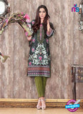 SC 14066 Dark Green Cotton Satin Exclusive Fancy Designer Suit
