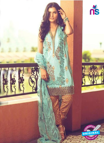 SC 14068 Sea Green Cotton Satin Exclusive Fancy Designer Suit