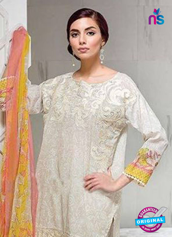 SC 14072 Beige Cotton Satin Exclusive Fancy Designer Pakistani Suit