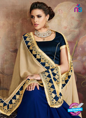 AZ 5240 Blue Georgette Wedding Saree