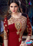 SC 12839 Maroon and Golden Semi Georgette Party Wear Designer Gawn