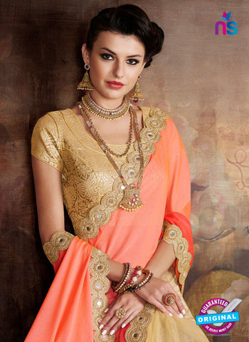 Orange Chiffon Wedding Sarees
