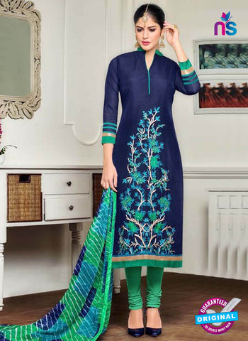 Angroop 240 Blue Formal Cotton Suit