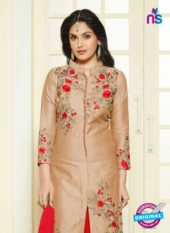 AZ 5178 Beige Glace Cotton Party Wear Suit