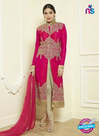 AZ 5180 Pink Glace Cotton Party Wear Suit
