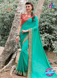 AZ 3359 Sea Green Georgette Fancy Saree