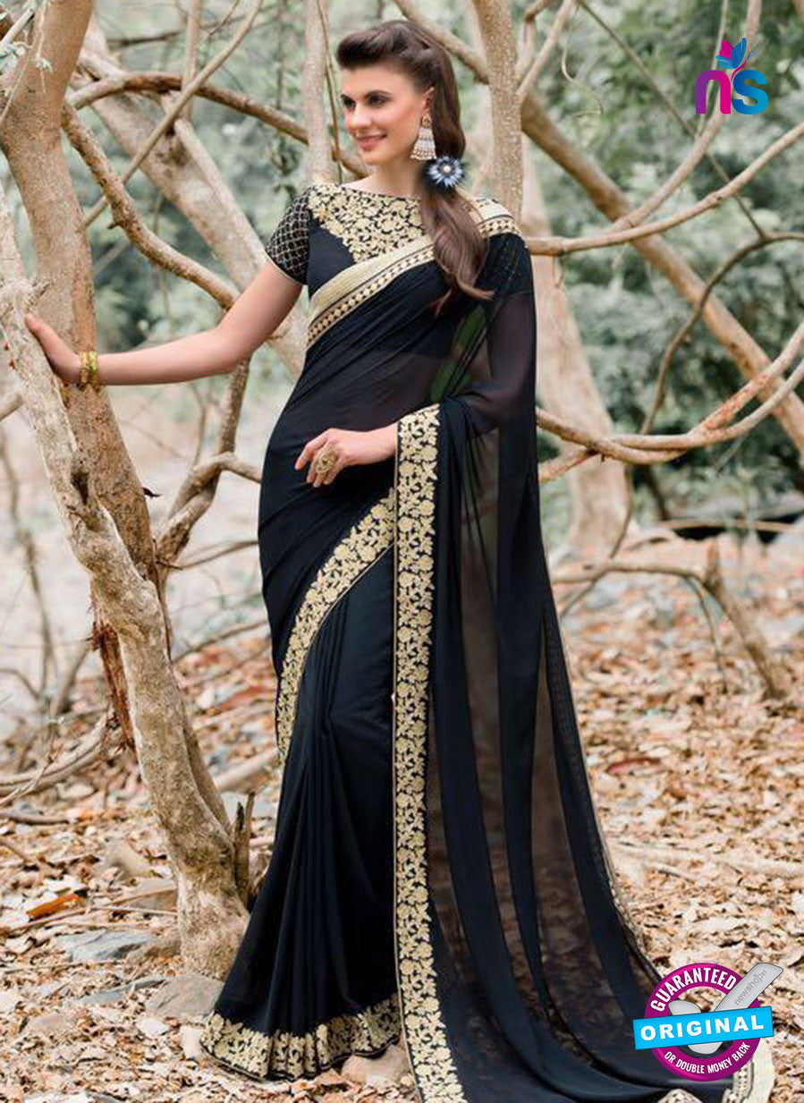 AZ 3364 Black Georgette Fancy Saree