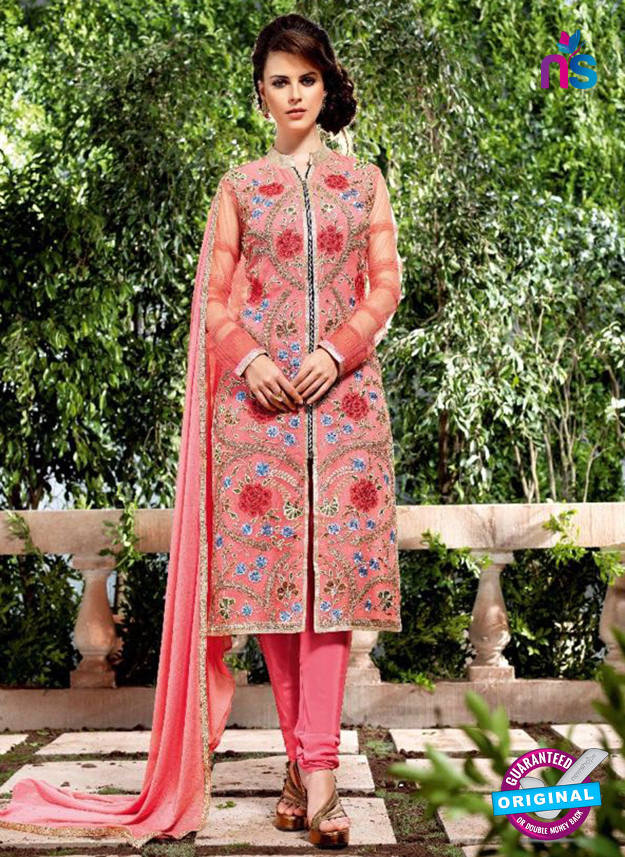 AZ 3761 Peach Georgette Party Wear Suit