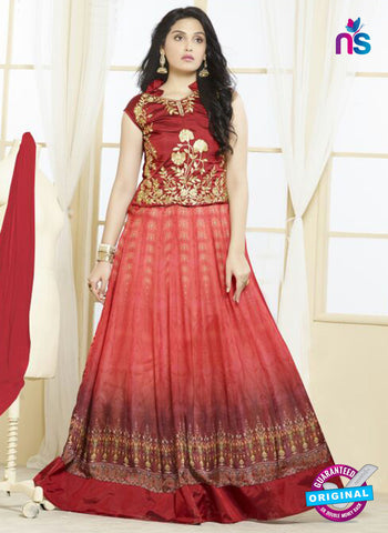 Your Choice 2475 Red Georgette Anarkali Suit