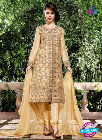Bela 2476 Beige Raw Silk Party Wear Suit