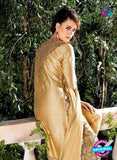Bela 2476 Beige Raw Silk Party Wear Suit Online