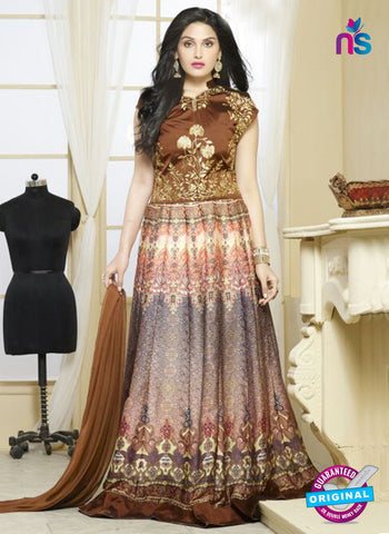 Your Choice 2477 Brown Georgette Anarkali Suit