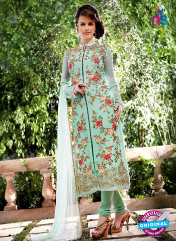 Bela 2477 Sky Blue Georgette Party Wear Suit