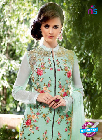 Bela 2477 Sky Blue Georgette Party Wear Suit Online