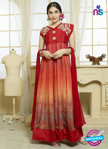 Your Choice 2478 Red Georgette Anarkali Suit
