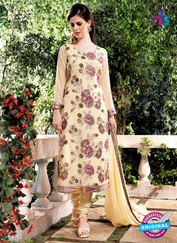 Bela 2478 Beige Georgette Party Wear Suit