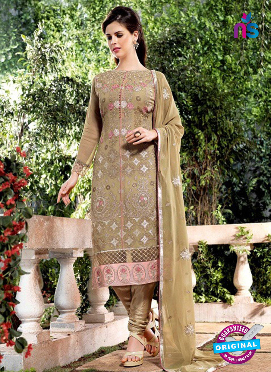 Bela 2480 Mehandi Green Georgette Party Wear Suit