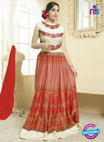 Your Choice 2480 Red Georgette Anarkali Suit