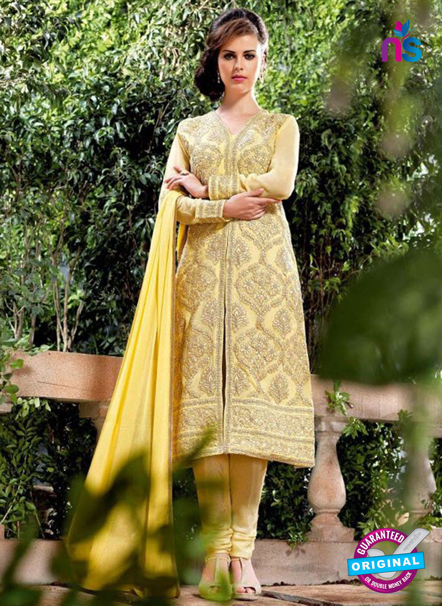 Bela 2483 Yellow Georgette Party Wear Suit