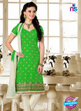 NS12215 Green and White Chudidar Suit