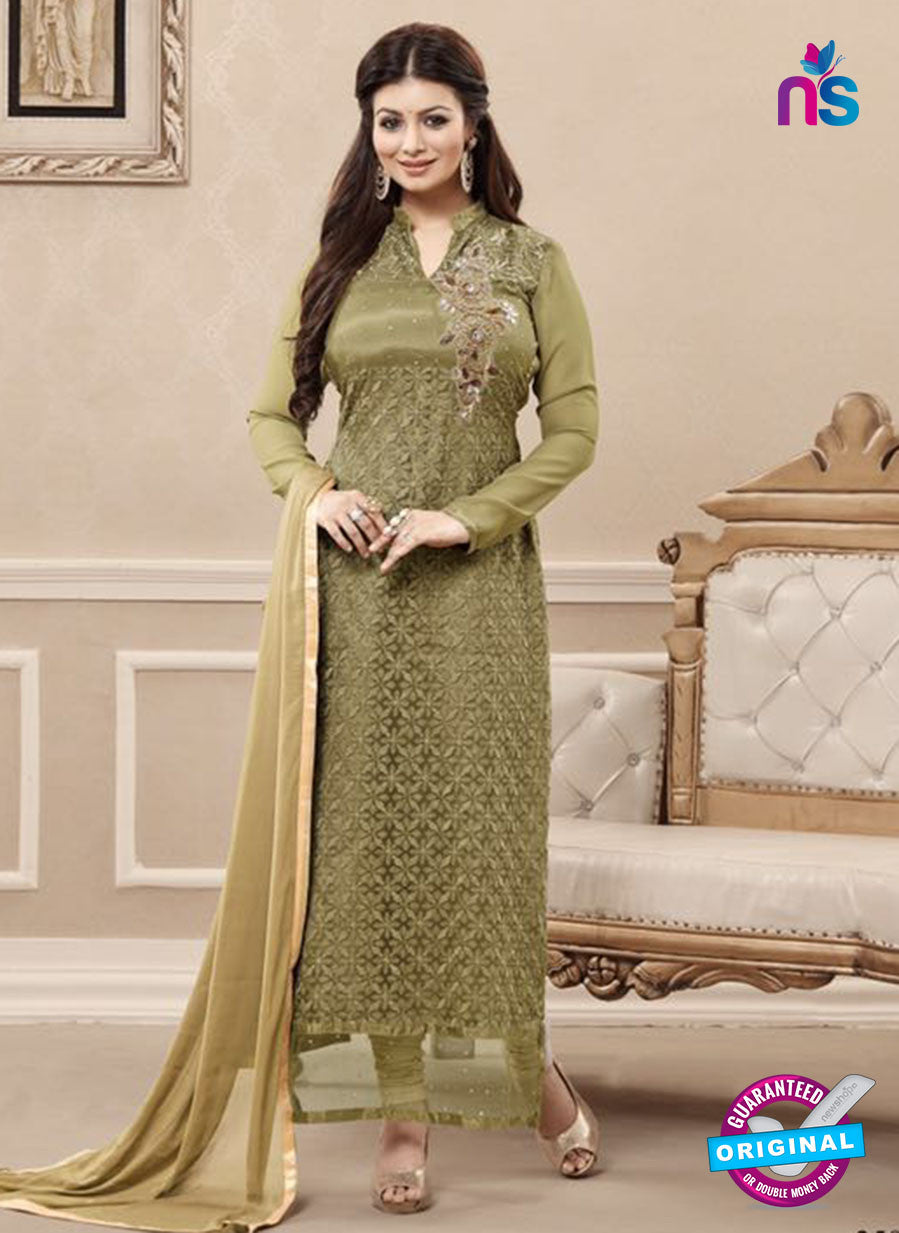 SC 13727 Green Color Georgette Party Wear Straight Suit