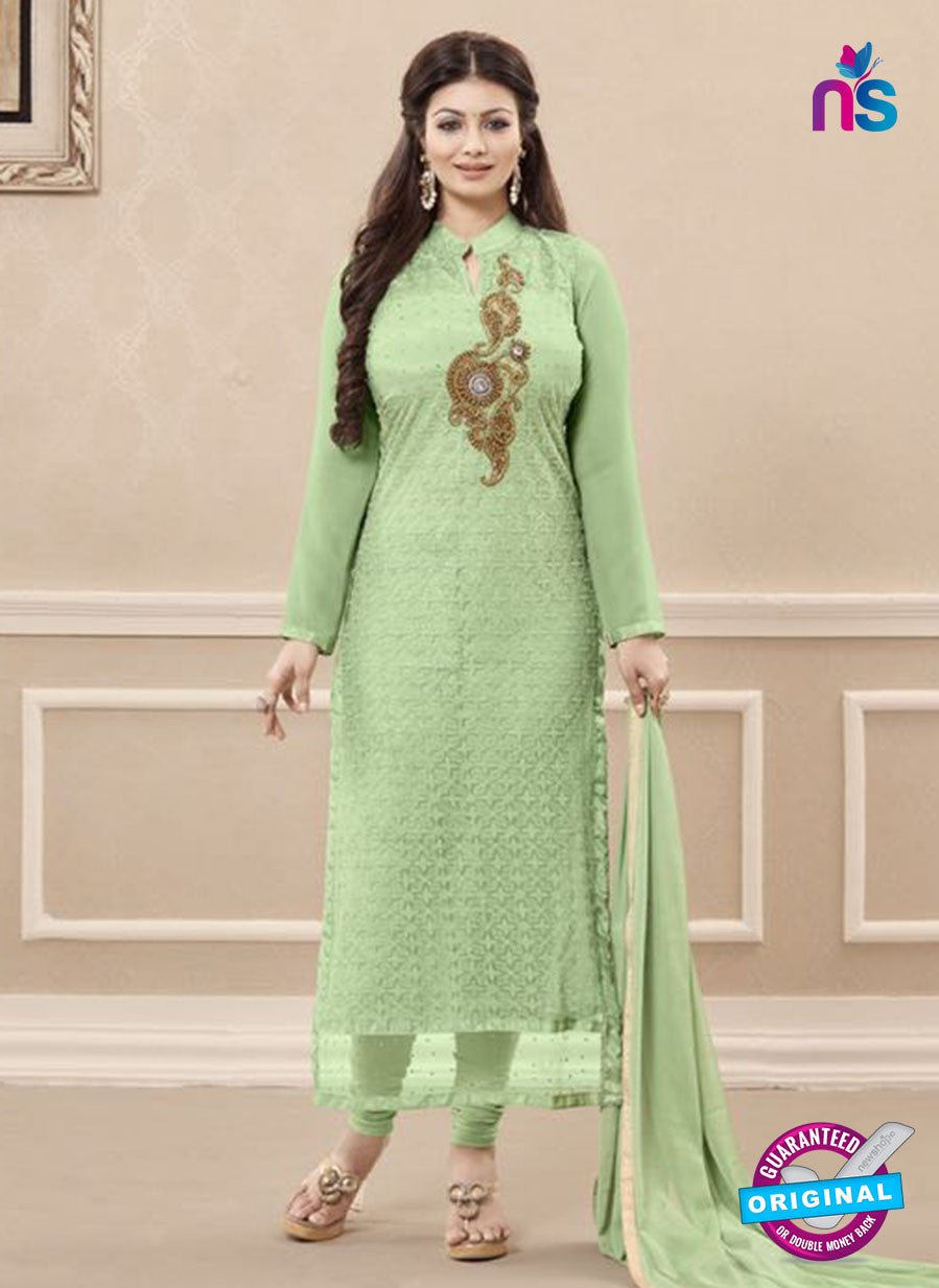 SC 13726 Green Color Georgette Party Wear Straight Suit