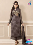 SC 13725 Dark Grey Color Georgette Party Wear Straight Suit