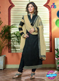 NS10732 Black and Brown Party Wear Georgette Long Straight Suit