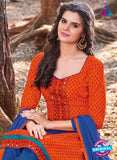 KalaKirti 2504 Orange Cotton Designer Suit