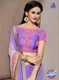 AZ 2287 Purple Georgette Fancy Party Wear Saree - Sarees - NEW SHOP