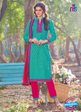 KalaKirti 2505 Pink And Blue Cotton Designer Suit