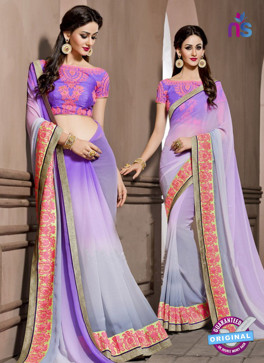 AZ 2287 Purple Georgette Fancy Party Wear Saree