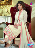 NS10735 Beige and Pink Party Wear Georgette Long Straight Suit