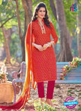 KalaKirti 2508 Orange And Pink Cotton Designer Suit
