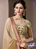 AZ 2291 Brown Georgette Fancy Party Wear Saree - Sarees - NEW SHOP