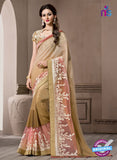 AZ 2291 Brown Georgette Fancy Party Wear Saree