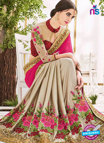 AZ 5226 Grey And Magenta Fancy Georgette And Net Party Wear Saree