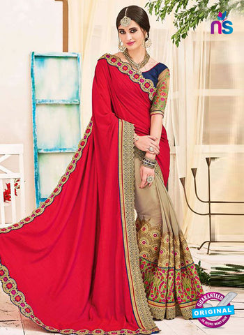 AZ 5228 Brown And Magenta  Fancy Georgette And Net Party Wear Saree