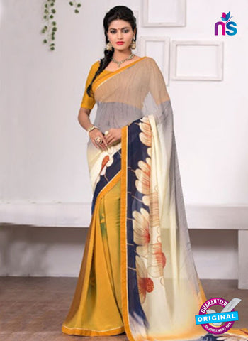 AZ 3349 Yellow Georgette Fancy Saree