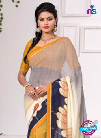 AZ 3349 Yellow Georgette Fancy Saree - Sarees - NEW SHOP