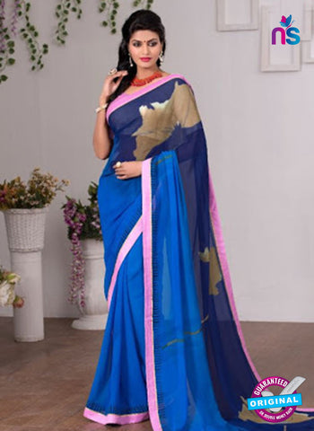 AZ 3353 Blue Georgette Fancy Saree
