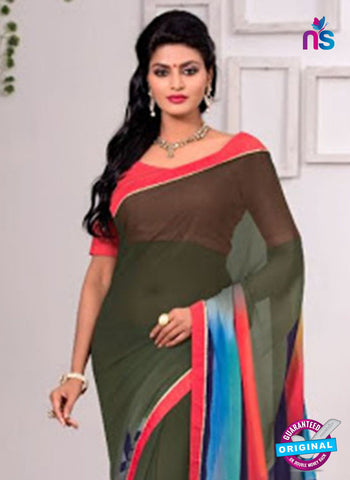 AZ 3355 Green Georgette Fancy Saree - Sarees - NEW SHOP