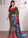 AZ 3355 Green Georgette Fancy Saree